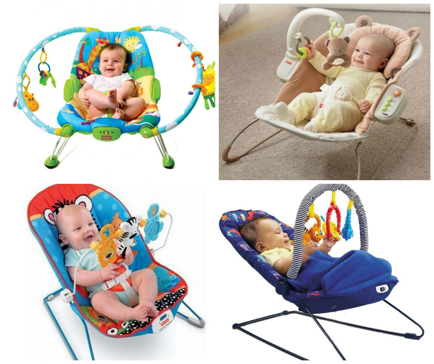 Toys for a month-old baby. Armchairs