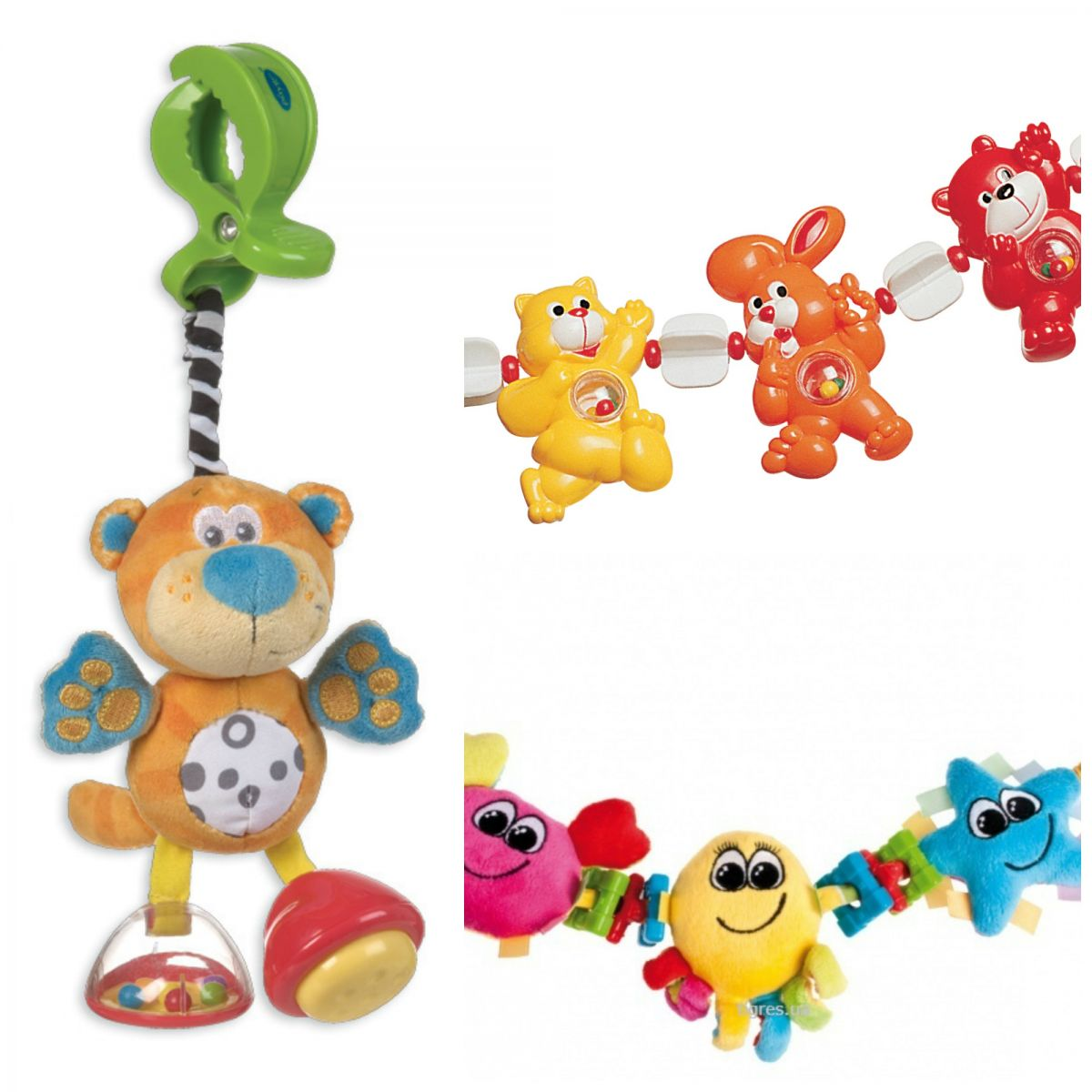 Toys for a month-old baby. Pendants