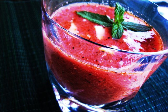 recipes with watermelon. Watermelon soup