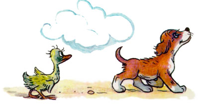 Evening tale. About how Puppy found friends - image №1