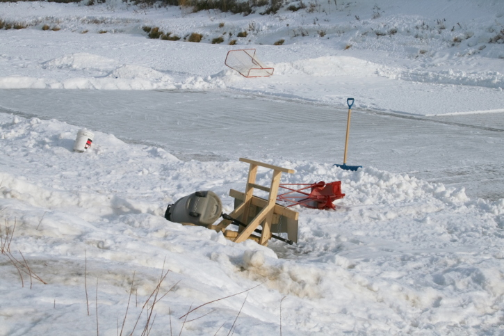 Family weekend: how to make a skating rink in the yard - image №3